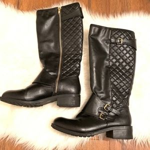 Rampage Quilted Black boots, Size 10